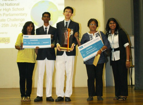 The Winning Debating Team and the Teacher Advisors